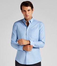 380aed74ab1 Kustom Kit Clayton   Ford Contrast Long Sleeve Oxford Shirt ...