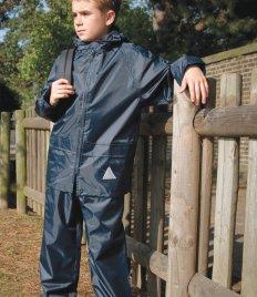 Result Waterproof Kids Jacket//Trouser Suit in Carry Bag Navy 5-6