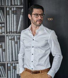 4ef1097ed80 Tee Jays Luxury Slim Fit Long Sleeve Oxford Shirt